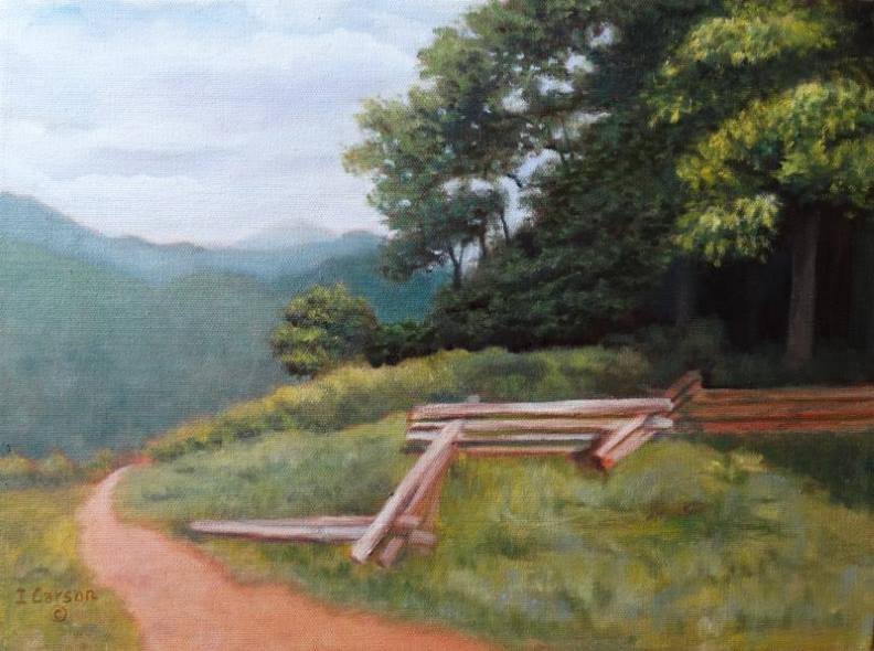 """Mountain Escape"", Oil painting by Ingrid Carson"