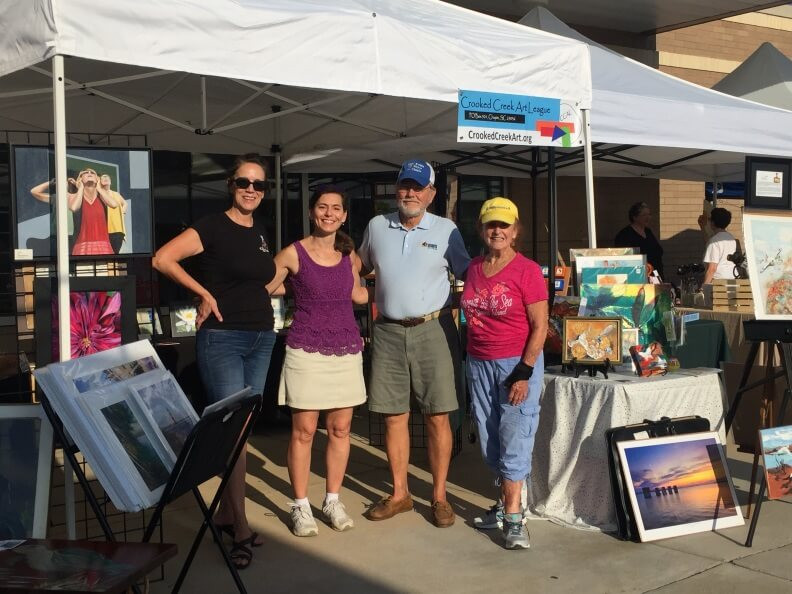 CCAL Booth at Chapin Farmers Market with Mayor David Knight