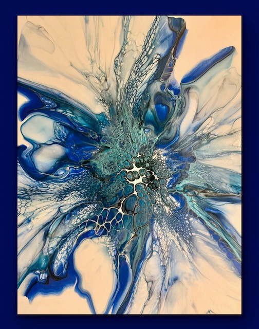 """Fluid Acrylic Painting """"Morning Glorious"""" by Rebecca Horne"""