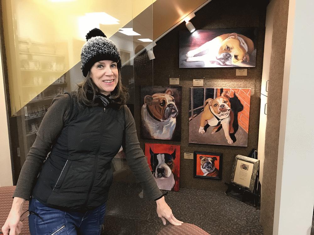 Artist Sonya Diimmler at Chapin Library Display