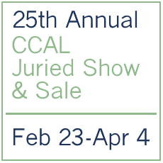 Logo for 25th Annual CCAL Juried Show & Sale