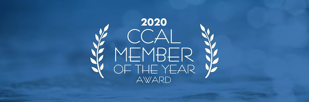 2020 CCAL Member of the Year Graphic