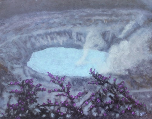 "Oil Painting ""Poás Crater Lake"" by Judy Matras"