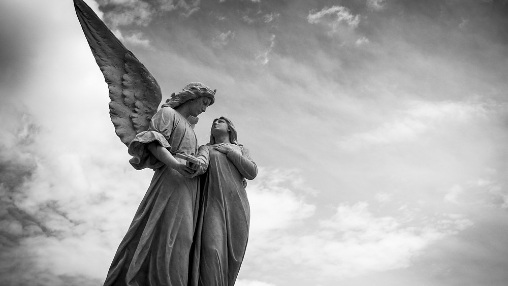 Photograph of angel statue