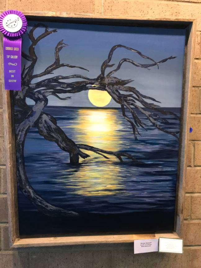 "Painting: ""Ocean Sunset"" by Diane McCavitt"