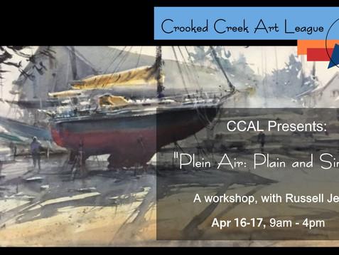 """New Workshop!!  - """"Plein Air: Plain & Simple"""""""