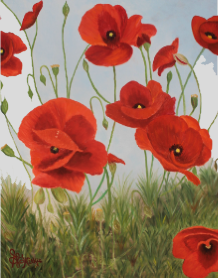 "Oil Painting: ""Poppies Galore"" by Sandra Wilkie"