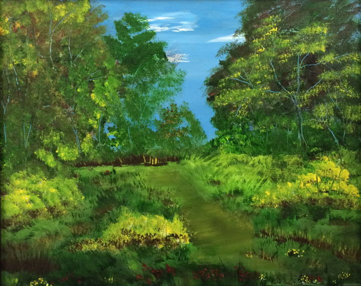 "Painting: ""Pathway to Eternity"" by Brenda Clark"