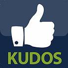 Hand with Thumbs Up and Kudos icon