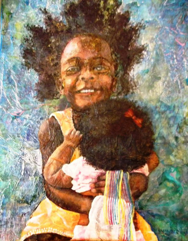 "Painting ""MY Sister!"" by Karen Larrabee"