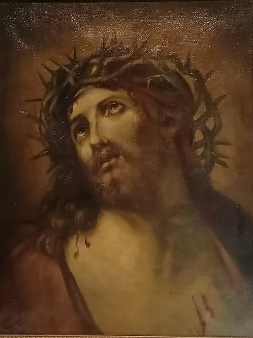 Outstanding Oil On Canvas Of Christ Hand Signed Circa 1830