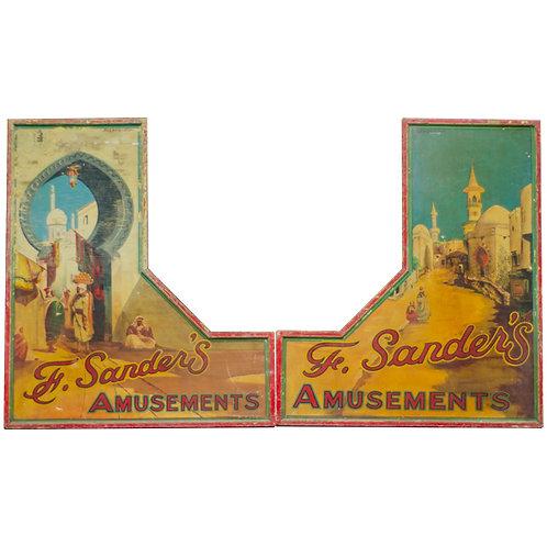 1930 Fairground Panels Arabian Theme from F Sanders Stall 1
