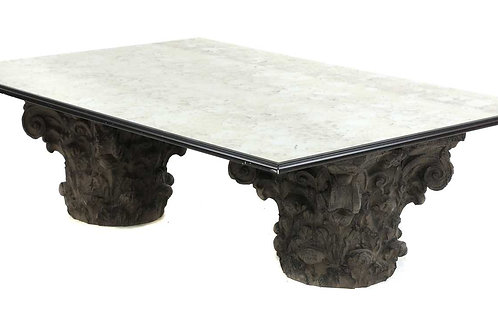 A modern classically-inspired low table