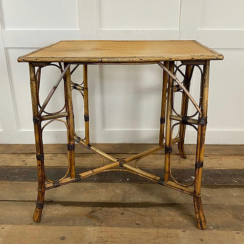 Bamboo Side Table, Early 20th Century