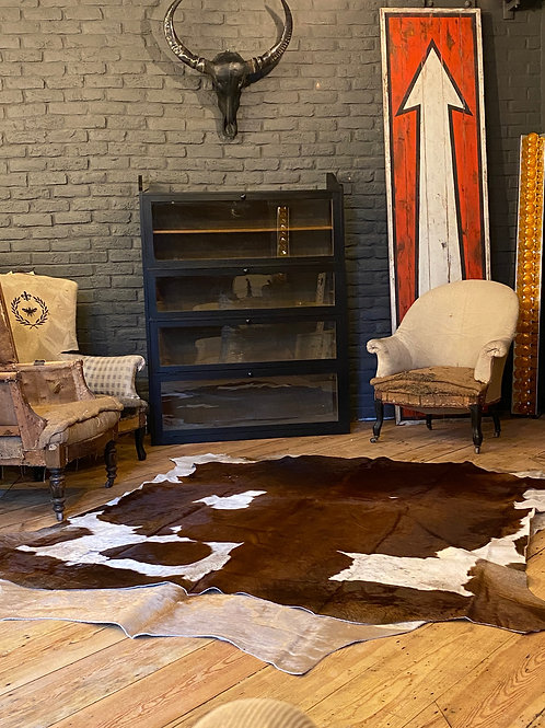 Cowboy Brown and White Beautiful authentic African cattle hides.