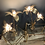 Thumbnail: Large Hollywood Regency brass palm tree table lamp