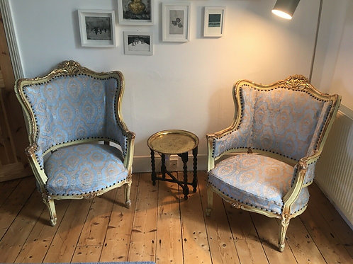 A Pair of vintage Rococo style Armchairs