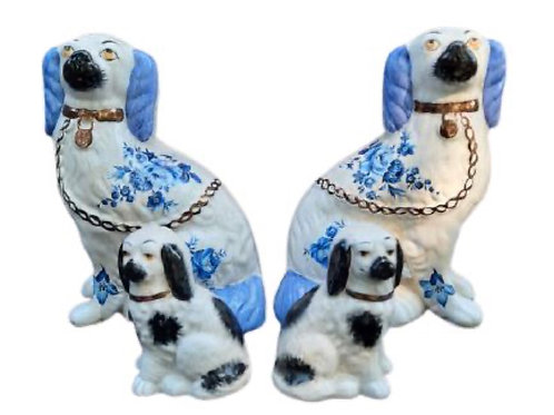 Two Pairs of Staffordshire Dogs