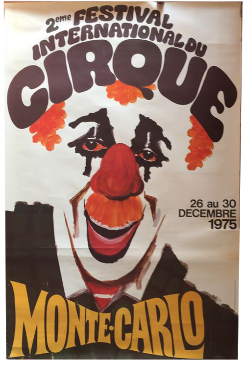 French poster Battisti Festival International du Cirque 1