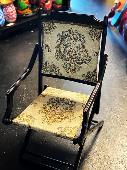 19th Century Victorian Ebonised Folding Chair