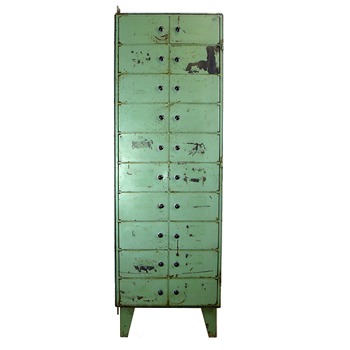 Vintage Industrial Compartment Lockers 1