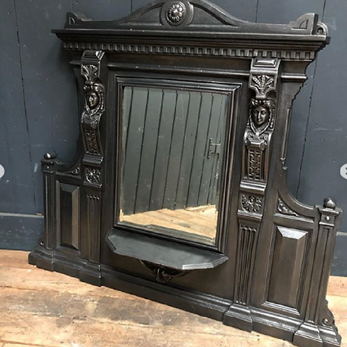 Decorative cast Victorian English Mirror