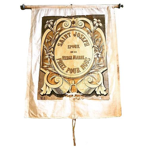 Early 20th century cloth church banner 1