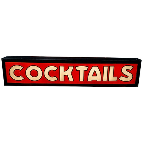 Large Cocktails Illuminated Sign 1