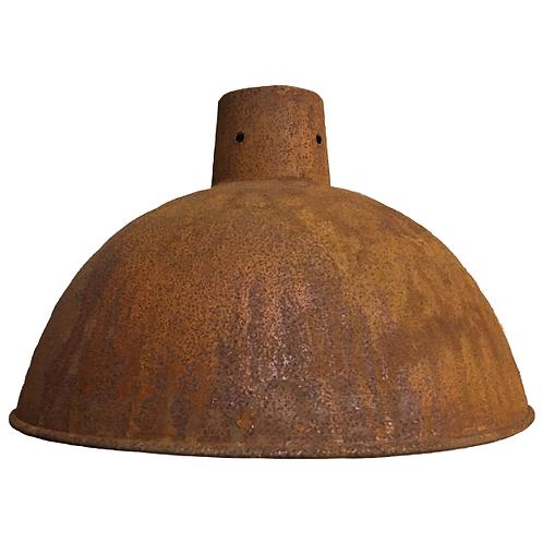 Metal Pendant Lampshade Rusted Large full 1