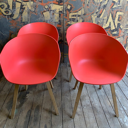 A set of four 'About A Chair' chairs manufactured by HAY, designed by Hee Wellin