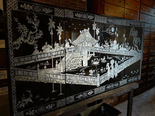 Late 19th Century Japanese Lacquer Screen Panels