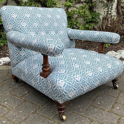Fully Restored Howard & Sons's Original Open Armchair 1860