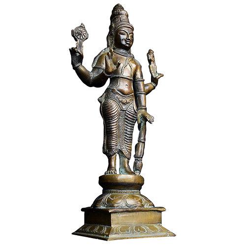 Bronze Indian Deity Vishnu Statue 1