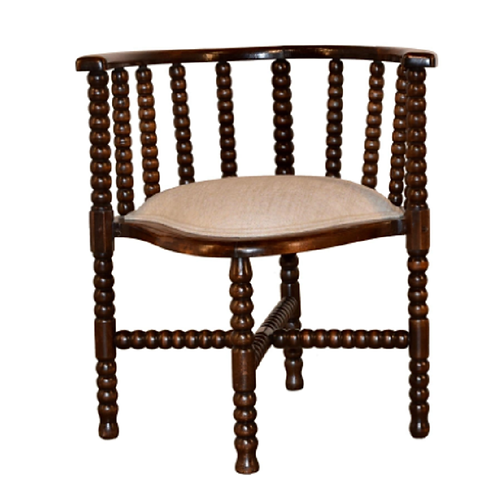 A 19th century oak bobbin chair from France