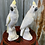 Thumbnail: A pair of white porcelain cockatoo statues