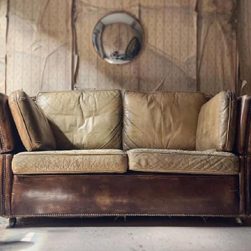 Mid 20thC Leather Knole Sofa
