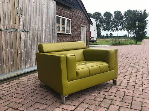 Dutch TopForm Yellow Leather Chair