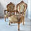 Thumbnail: An Epic pair of straw filled Louis xv style chairs.