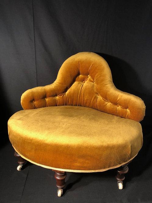 Antique Buttoned Conversation Seat - Corner Seat Sofa.