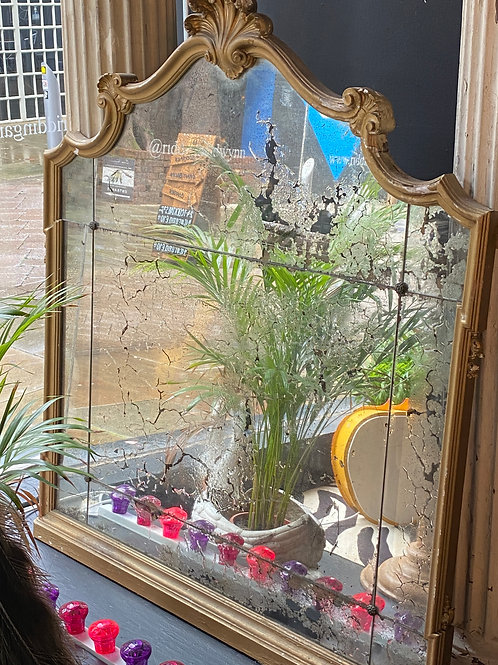 1800's Antique French Mantle Mirror