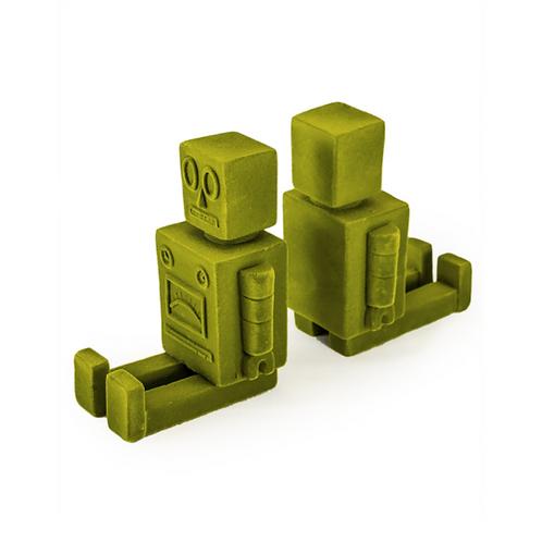 Green Flock Robot Bookends Pair