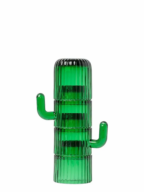 Green Glass Saguaro Coffee Cups