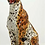 "Thumbnail: ""Faience"" Ceramic leopard, hand-decorated."