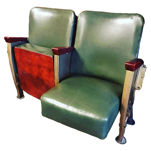 French Leather Vintage Cinema Seats 1
