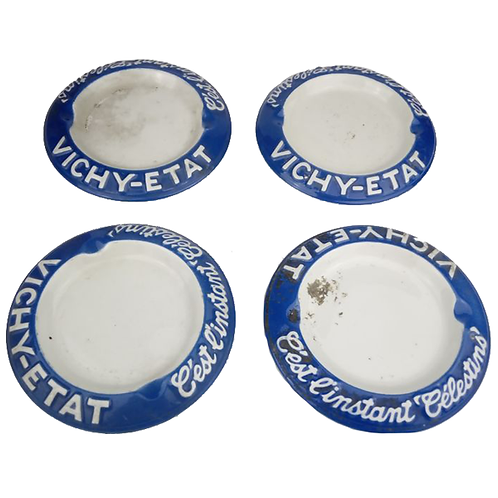 Vichy Etat Enamel Ashtrays full 1
