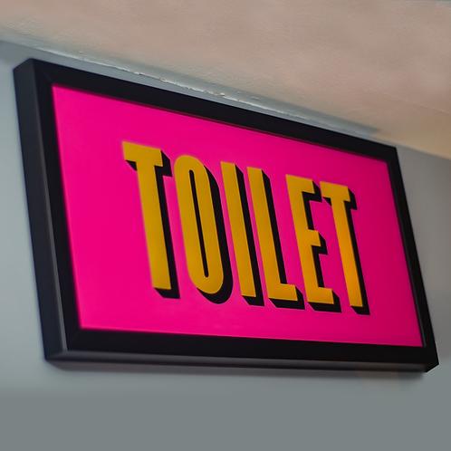 Gold Leaf Toilet Sign 1