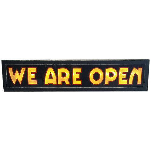 WE ARE OPEN Sign Illuminated Glass 1