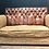 Thumbnail: Fine Quality Art Deco Hand Dyed Brown Leather English Sofa
