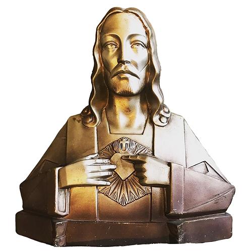 Art Deco Sacred Heart Statue 1