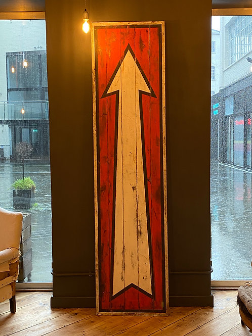 Extra Large Vintage Fairground Arrow Sign 2.5m